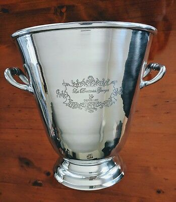 Brand New! The Russell Collection Aluminium etched Paris Wine Cooler/ Ice bucket