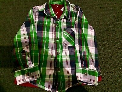 Boys Size 1 Long Sleeved Button Up Shirt
