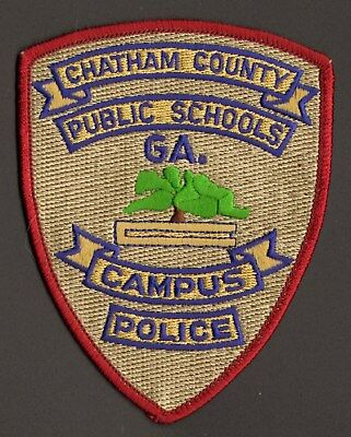 Chatham County, Georgia GA Schools Campus Police Department Patch FREE SHIPPING