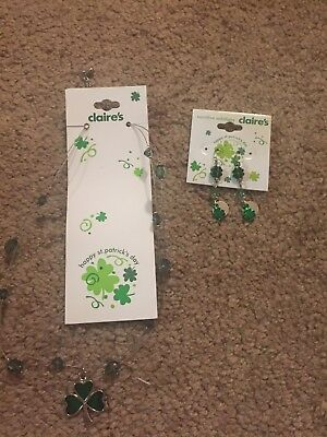 St. Patrick's Day Necklace and Earrings Set