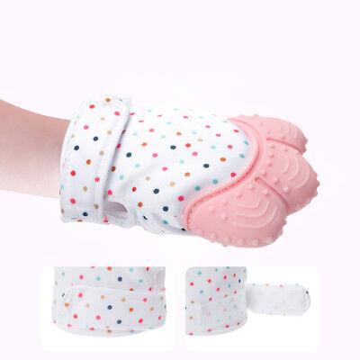 Baby Molar Gloves Food Grade Silicone Anti Scratch Soothing Molar Mallet Mittens