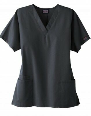 Cherokee Workwear V-Neck Womens Scrub Top. Style 4700. Pewter. Preowned Small