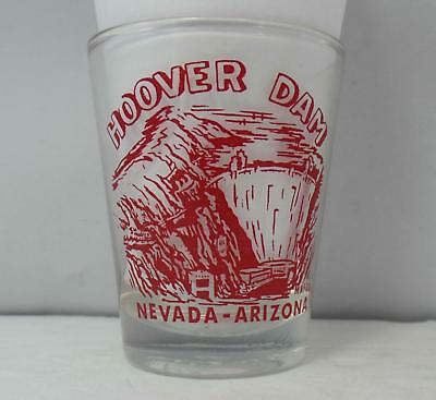 "Hoover Dam Nevada-Arizona Shot Glass - Clear 2 1/4"" Tall"
