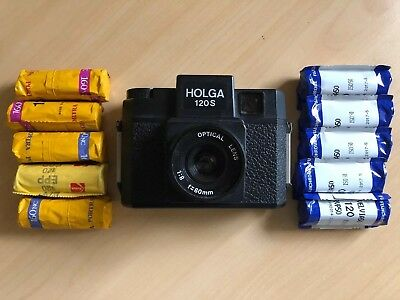 Holga 120S Medium Format Film Camera PLUS 10 Rolls Of Film