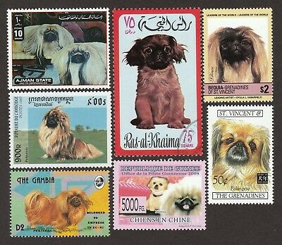 ON SALE!!  PEKINGESE ** Int'l Dog Stamp Collection ** Great Gift Idea**
