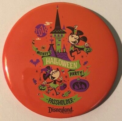 Disneyland Halloween Button 2018 Mickey's Party Annual Passholder Exclusive, New