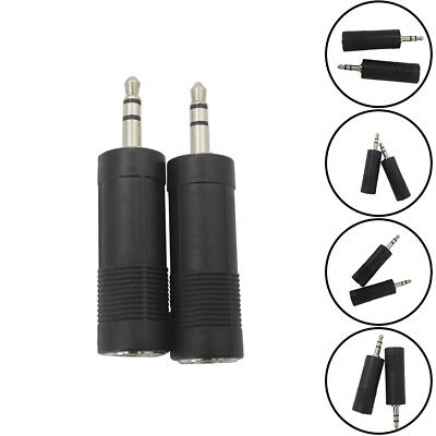 ALS_ Stereo 3.5mm Male to 6.5mm Female AUX Jack Audio Coupler Connector Plug Exq