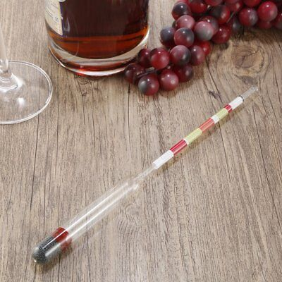 Transparent 3 Scale Hydrometer For Beer Wine Home Brewing Craft Brew BI