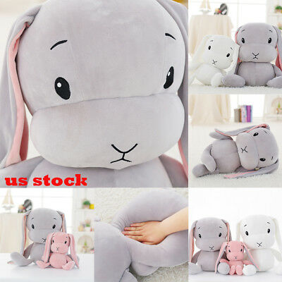 Cute Lucky Rabbit Stuffed Animal Soft Plush Toy X-mas Gift Doll For Kids Baby US