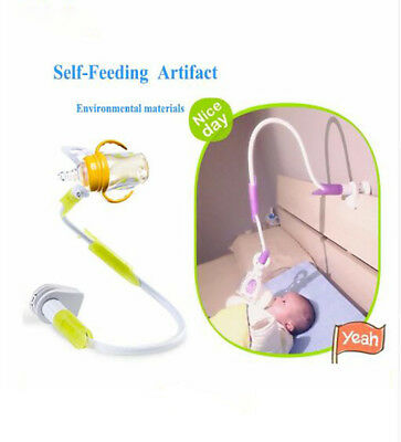 074001ca42a Image 1 Source · BABY BOTTLE HOLDER Hands Free Feeding Twins Triplets Blue  White