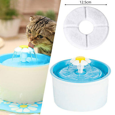 Fountain Filter Water Cat 1.6L Dog Automatic Bowl Pet Drinking Flower Electric