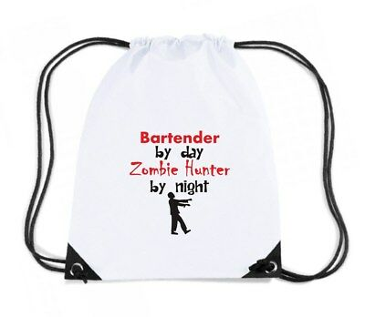 Zaino Zainetto Budget Gymsac  BEER0167 Bartender By Day Zombie Hunter By Night