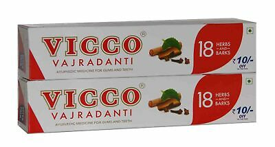2 X Vicco Vajradanti Tooth Paste 200gm, Ayurvedic Herbal toothpaste