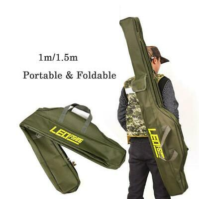 1.5M Fishing Rod Bag Pole Case Carry Shoulder Tackle Tube Foldable Waterproof AU