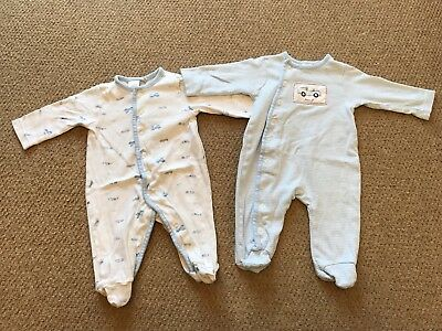 Jasper Conran, Pair Of Baby Boy Babygrows, 3-6 Months