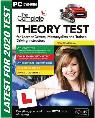 2018 Latest Edition. The Complete Car Driving Theory Test PC DVD CD Rom UK FcThr