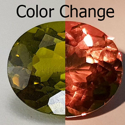 6.77 Cts 11X9Mm Vs2 Oval Color Change Natural Turkish Diaspore Loose Gemstone