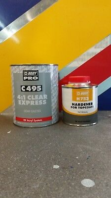 HB Body 495 Express KIT 1L Semi-gloss Lacquer Clear Coat 4:1 and 753 Activator