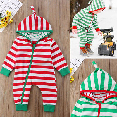 Top Baby Kids Boy Girl Infant Hooded Romper Jumpsuit Bodysuit Clothes Outfit Set