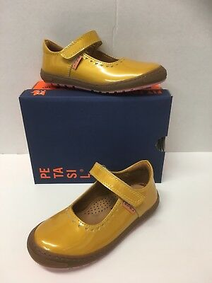 Petasil Gisele Girls Mary Jane in Patent mustard yellow (5862)