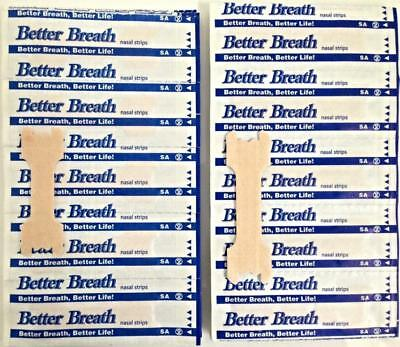 50pcs Tan Better Breath Nasal Strips SM/Med Or Large Right Way To Stop Snoring