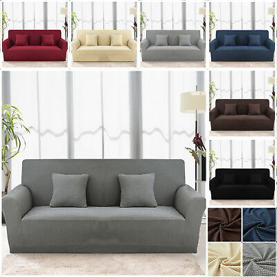Spandex Stretch Sofa Covers Easy Fit Couch Protector 1/2/3 Seater Slip Cover
