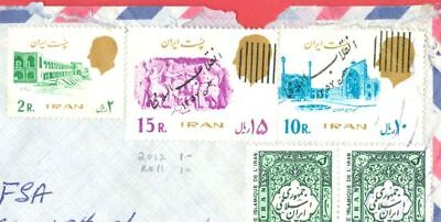 Middle East PERSIA Before & After REVOLUTION + Overprint Mixed use cover to USA