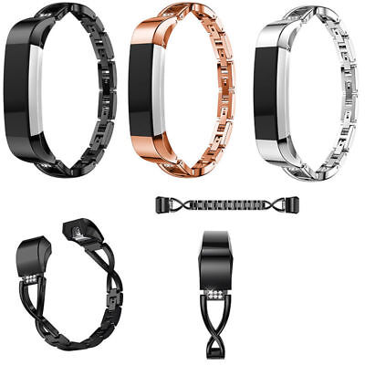 Replace For Fitbit charge 2 2HR Wristband Watch Bracelet Bling Metal Wrist Band