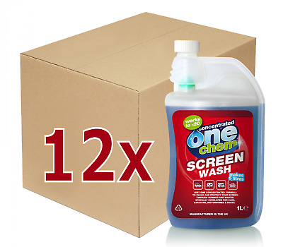 12 x 1L Concentrated Screenwash - 1 box makes 60 litres - CLEARANCE