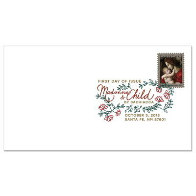 USPS New Madonna and Child by Bachiacca Digital Color Postmark