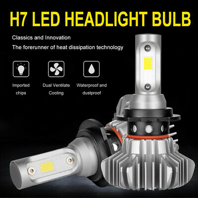 Autofeel H7 LED Headlight Bulbs Kit 120W 18600LM Low Beam Globes Canbus 6000K