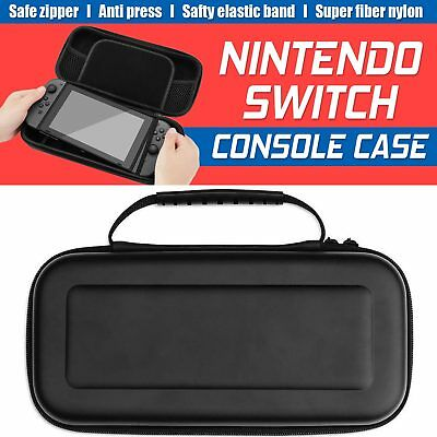 Travel Bag Carry Case Pouch Box & Protector Black For Nintendo Switch Console