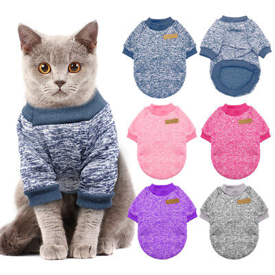 Cozy Windproof Cat Jumper Winter Cat Dog Clothes Coat Jacket Cat Sweater Knitted