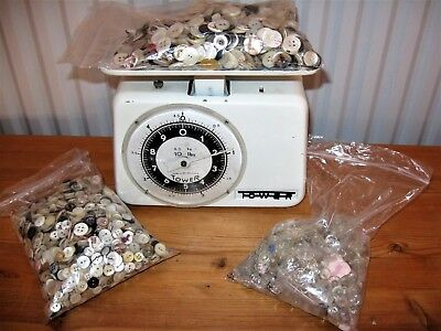 Large vintage job lot, mother of pearl and glass buttons  2.4 KG medium, small