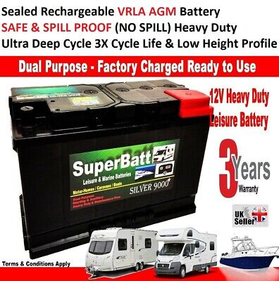 12V 110AH SB LM110AGM VRLA AGM Ultra Deep Cycle Leisure Marine Battery -No Spill