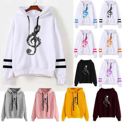 Fashion Womens Hoodie Sweatshirt Ladies Hooded Casual Pullover Tops Jumper Coat