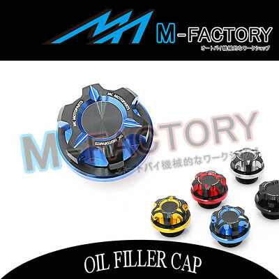 Motorcycle Engine Blue CNC T-Axis Oil Filler Cap Fit Suzuki GSX 750F Katana