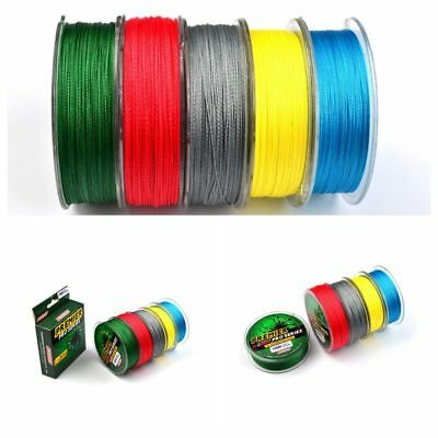 UK 100M/300M Super Strong PE Braided Sea Fishing Line Multifilament Angling
