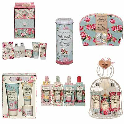 Vintage Bouquet Bath & Body Gift Sets For Women Pamper Treats Floral Scented