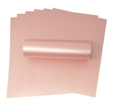 20 A4 Rosa Pink Sparkle Paper With Iridescent Sparkle 120Gsm For Card Crafts