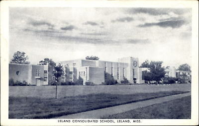 Leland Consolidated School Mississippi MS Photo Tone 1920s?