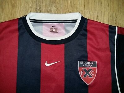 Neuchatel Xamax Switzerland #7 rare match worn ? shirt size XL