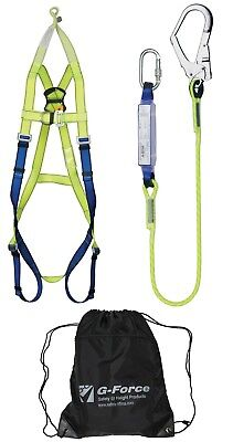 Scaffolder Shock Absorbing Height Safety Fall Arrest Confined Rescue Harness Kit