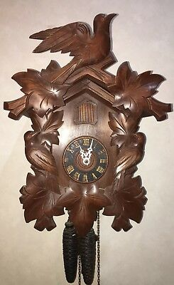 German Black Regula Cuckoo Wall Clock