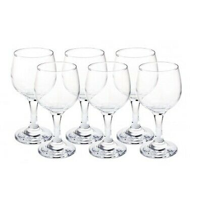 Clear Glasses Set Of 6 For White Wine 175 ml