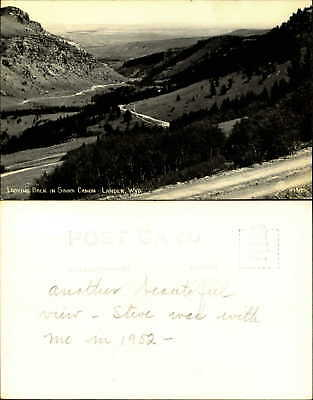 Looking back in Sinks Canon Canyon Lander Wyoming RPPC