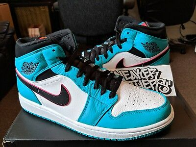 cbce8e9aac0344 Nike Air Jordan Retro I 1 Mid SE South Beach Turbo Green Hyper Pink 852542-
