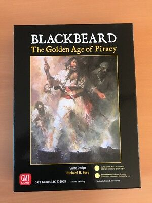 Blackbeard, The Golden Age Of Piracy , GMT, COSIM GAME, unpunched