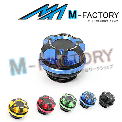 Motorcycle Engine Blue CNC T-Axis Oil Filler Cap Fit Honda CB1000R CBR250R