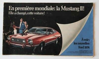 FORD 1974 Mercury dealer brochure - French - Canada - ST1002000918 Mustang II